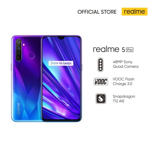 Foto Produk Realme 5 Pro 8/128GB Qualcomm Snapdragon 712, 48MP AI Quad Camera - Crystal Green dari realme Official Store