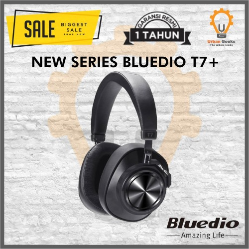 Foto Produk Bluedio T7 wireless headphone Active Noise Cancelling Bluetooth 5.0 - T Tuju Plus dari Urban Geeks