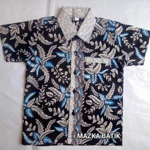 Foto Produk Kemeja / Hem / Atasan / Baju / Anak Laki Laki Batik 1035 dari Mazka Batik Pekalongan