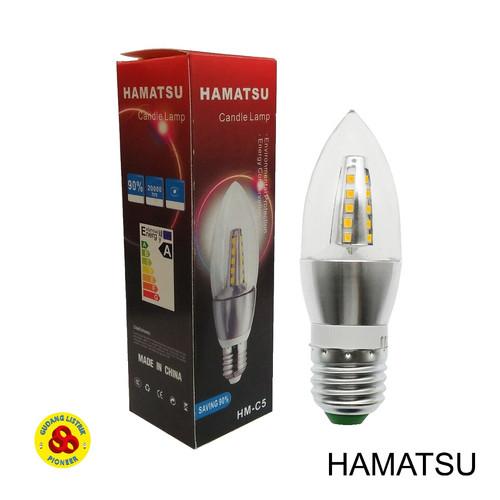Foto Produk Lampu LED Candle 5W Putih E27 Clear Bohlam Jantung 5 Watt 6500K CDL dari Gudang Listrik
