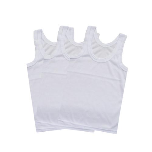 Foto Produk WakaKids Kaos Dalam Anak Bayi Singlet Putih Motif Jala Vench - S dari wakakids