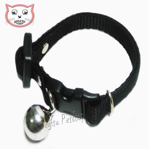 Foto Produk Kalung Lonceng Polos Untuk Kucing - Hitam dari Segitu Petshop Bekasi