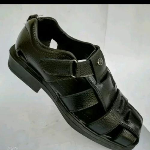 Foto Produk sepatu sandal selop pantofel pantopel fantofel pria kulit sapi asli - Hitam, 39 dari al baroka