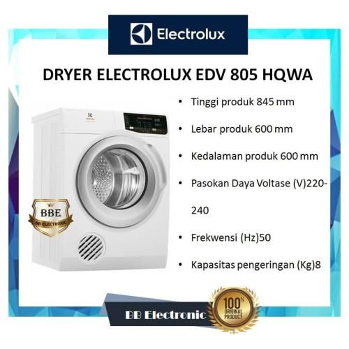 Foto Produk DRYER ELECTROLUX EDV 805 HQWA / EDV 805HQWA / EDV805HQWA dari BB ELECTRONIC