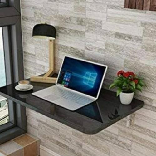 Foto Produk Meja Lipat Dinding 80 x 40 cm HPL - Hitam dari Meru Furniture