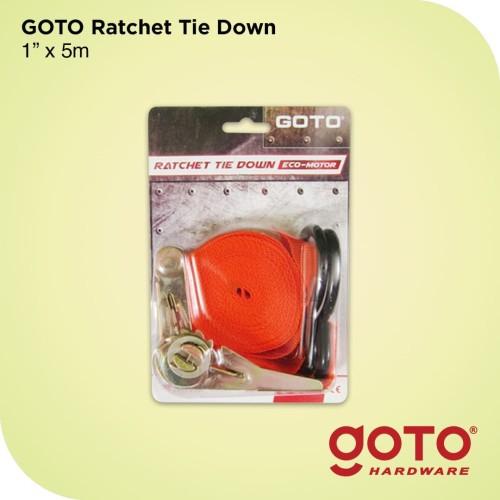"""Foto Produk Tali Pengikat Barang 1"""" 5M Cargo Lashing Belt Ratchet Tie Down 5 Meter dari GOTO Hardware"""
