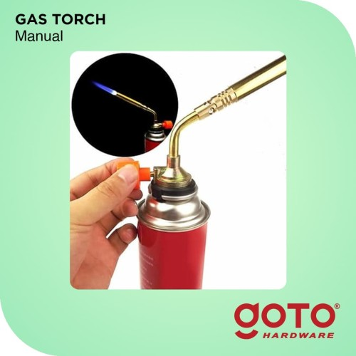 Foto Produk Torch Flame Gun Kepala Kuningan Gas Pemantik Api Alat Las dari GOTO Hardware