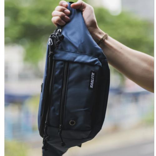 Foto Produk Tas Selempang Pria Zest Navy / Sling Bag / Waist Bag dari HARLOTH OFFICIAL