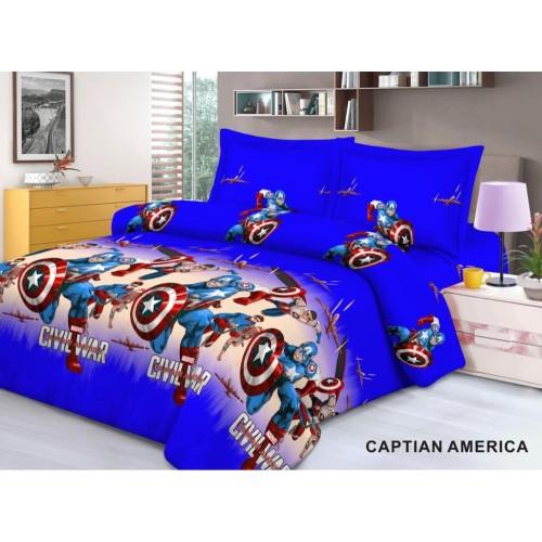 Foto Produk Seprei Ukuran 100x200cm Karakter Captain America 3 Kaki dari Pelanggan Setia