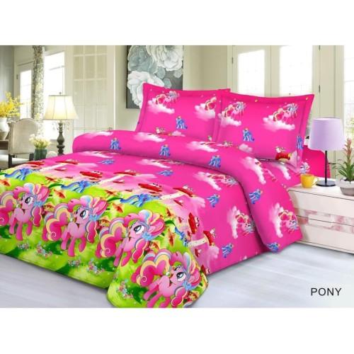 Foto Produk Seprei Kuda Poni Terlaris Ukuran 180X200 / 120x200 / 100x200cm - S dari Pelanggan Setia