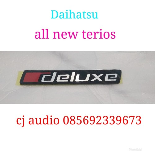 Foto Produk Emblem logo Tulisan deluxe Daihatsu all new terios dari CJ_AUDIO