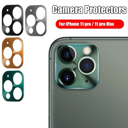 Foto Produk Camera Ring Case iPhone 11 Pro - iPhone 11 Pro Max - Pelindung Kamera - Hitam dari Logay Accessories