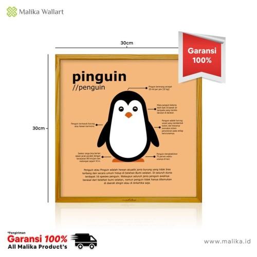 Foto Produk Hiasan Dinding Dekorasi Rumah Pinguin Ukuran 30x30 Cm dari malikawallart