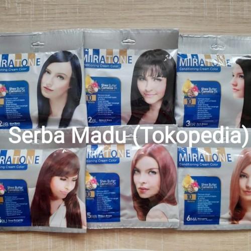 Foto Produk Miratone Conditioning Cream Color/Pewarna Rambut Sachet dari Serba Madu