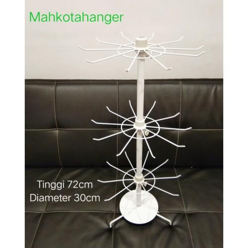 Foto Produk Rak Display Putar Matahari 3 Susun Besi Kuat Tebal Impor Display dari MahkotaHangerJaya