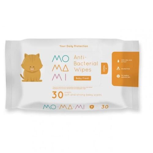 Foto Produk MOMAMI Anti Bacterial Wipes 30sheets dari Jungle Babyshop
