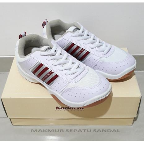 Foto Produk Sepatu Badminton - Kodachi AR - Putih/Merah dari Makmur Sepatu Sandal