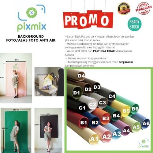 Foto Produk Background Foto / Alas Foto Bahan PVC 60 x 100 cm Waterproof - B1. Red dari Pixmix Jakarta