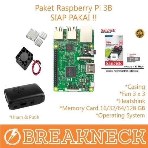 Foto Produk Paket Raspberry Pi 3 Model B - ENAM BELAS dari Breakneck