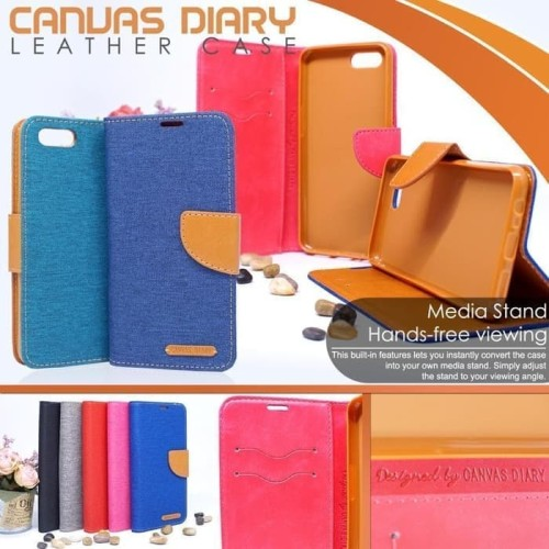 Foto Produk Vivo Y91C Flip Cover Case Canvas Dompet Buka Tutup dari scorpionacc_12