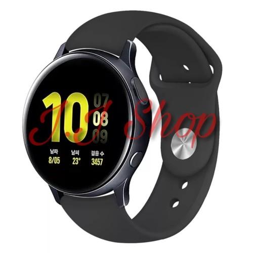 Foto Produk Strap Watch Band Polos Samsung Galaxy Watch Active 2 40mm 44mm Tali dari Logam Mulia Termurah