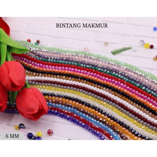 Foto Produk TERMURAH Manik Kristal Ceko 6mm Semua Warna Harga Sama Barang Import - merah doff dari Bintang Makmur 42