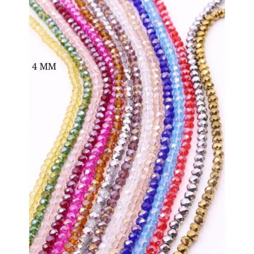 Foto Produk TERMURAH Manik Kristal Ceko 4mm Semua Warna Harga Sama Barang Import - Merah dari Bintang Makmur 42