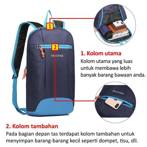 Foto Produk Discover Tas Ransel Backpack Sport Day Pack Tas Pria Tas Wanita BCH - Biru dari Bag Solution