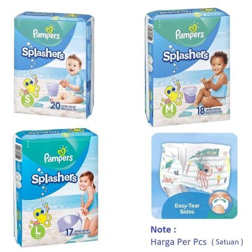 Foto Produk Pampers Renang|Popok|Celana|Berenang|Splashers Swim Diapers - Uk S 6-11 KG dari Dewei Babyshop