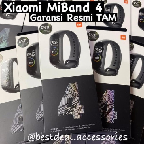 Foto Produk Xiaomi MiBand 4 Garansi Resmi TAM - Mi MiBand4 Mi Band 4 OLED Original dari bestdeal official