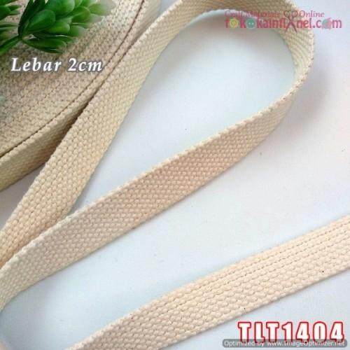 Foto Produk TLT1404 Tali Tas / Tali Katun Tebal Lebar 2cm (Per Meter) dari Toko Kain Flanel dot com