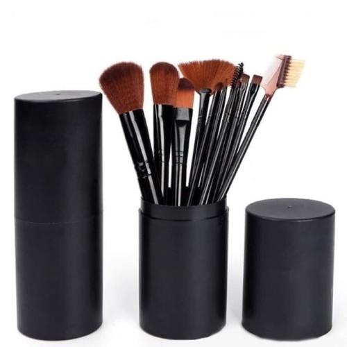Foto Produk Brush Tabung BLACK Hankousi Nankousi - Kuas MakeUp Set 12 pcs dari dfanccie house