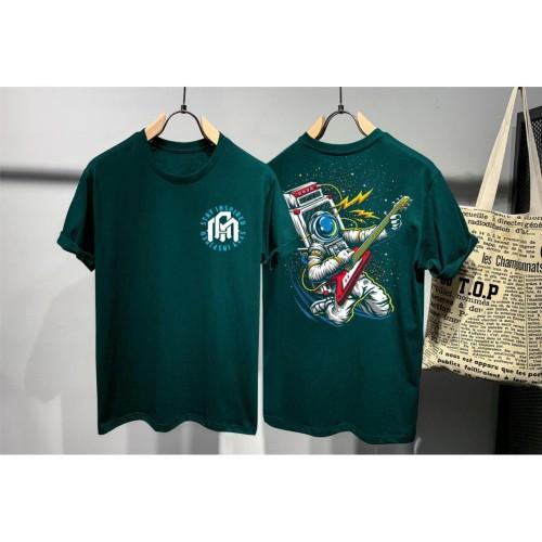 Foto Produk T-shirt Astronaut / Baju Kaos Distro Pria Ast Stay High Hijau Slimfit dari revenge eleven