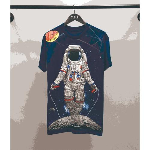 Foto Produk T-shirt Astronaut / Baju Kaos Distro Pria Ast Tali Biru Pendek Slimfit dari revenge eleven