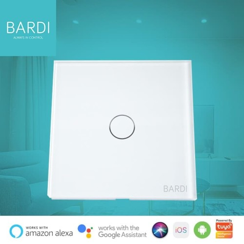 Foto Produk Bardi Smart WiFi Touch Wallswitch - EU 1 Gang - Putih dari Bardi Official Store