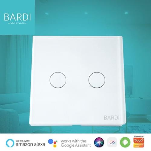 Foto Produk Bardi Smart WiFi Touch Wallswitch - EU 2 Gang - Putih dari Bardi Official Store