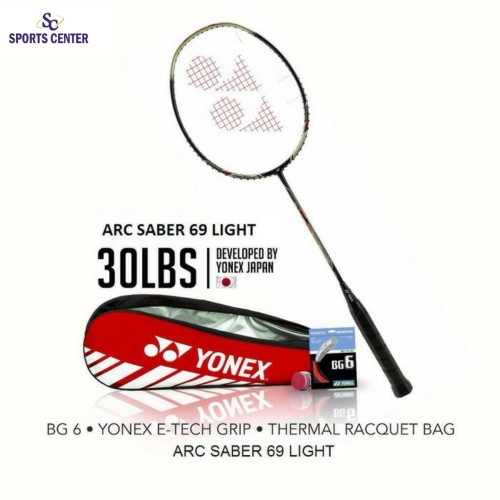Foto Produk Full Set Raket Badminton Yonex Arcsaber 69 Light 5U G5 dari Sports Center