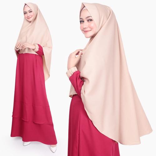 Foto Produk Setelan Muslim Original | Kiena Set | Gamis Syari Wanita |Tazkia Hijab - Maroon dari Tazkia Hijab Store