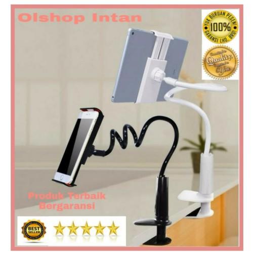Foto Produk LAZYPOD STAND HP TEMPAT HP TEMPAT TABLET - Hitam dari Olshop Intan