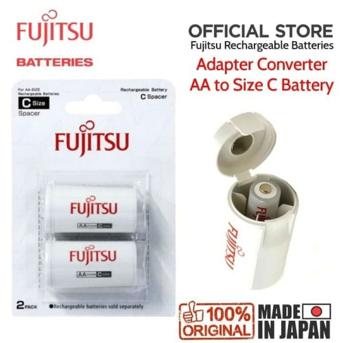 Foto Produk Adapter Converter Battery Fujitsu AA to size C 2PCS dari UFO Teknologi