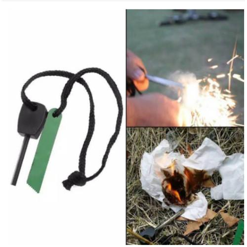 Foto Produk Fire Starter Batu Gesek Korek Pembuat Percikan Api Batang Magnesium dari lbagstore