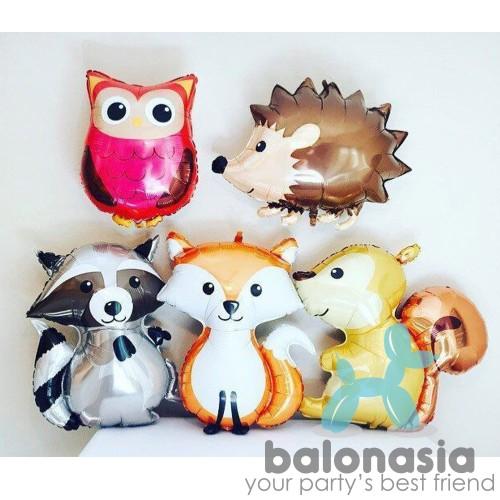 Foto Produk Balon foil tema Jungle / Balon hewan / Jungle land - FOX dari Balonasia
