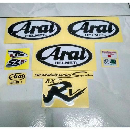 Foto Produk STIKER ARAI SET RX7 RR5 RX7 X (arai 3pcs) - RRVHitam dari kangstiker id