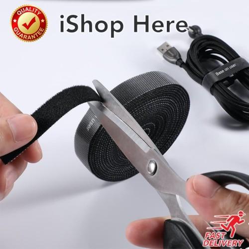 Foto Produk Baseus Cable Organizer Velcro Strap | Pengikat Perekat Klip Kabel - 1 meter, Hitam dari iShop Here