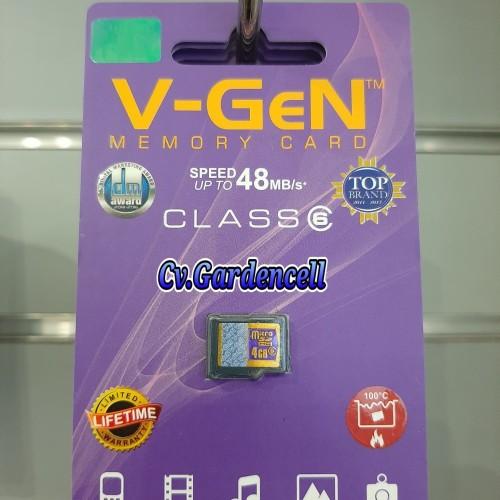 Foto Produk V-GEN MICRO SD 4GB ORIGINAL dari Garden Cell Official