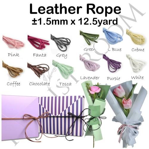 Foto Produk Leather Rope - Tali - Ribbon - Pita - Florist - Kado - Haidah - Pink dari Florist Room