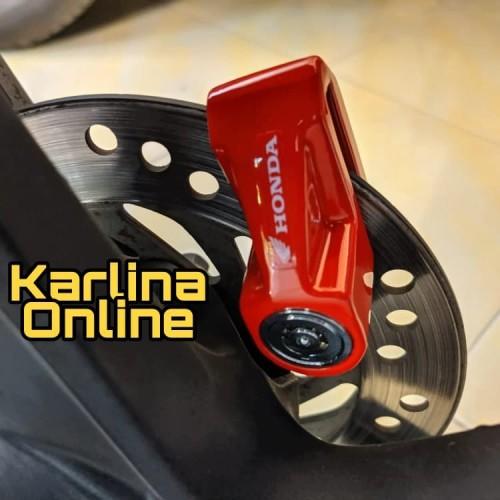Foto Produk Kunci Disk Lock Gembok Piringan Cakram Motor Original Aksesoris Honda dari Karlina Online