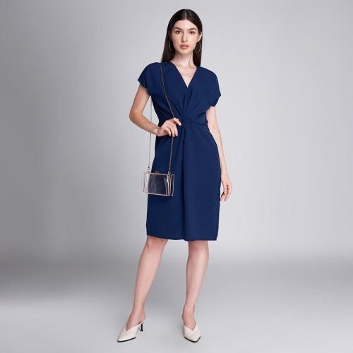 Foto Produk ALFIE DRESS NAVY LOOKBOUTIQUESTORE - M dari Lookboutiquestore