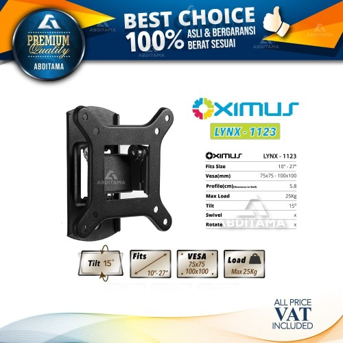 Foto Produk Bracket Tv LCD LED Breket TV Oximus Lynx 1123 16 19 20 22 24 27 inch dari Abditama Official