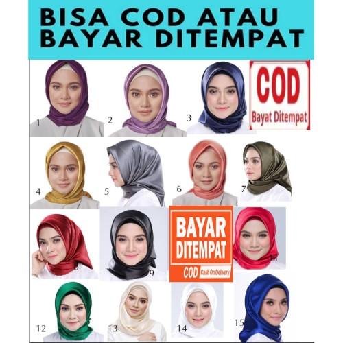 Foto Produk HP0018 Jilbab Segi Empat Polos Untuk Pribadi Kelompok Pengajian Dll dari Yatim Shop